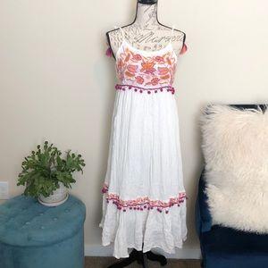 Raga white dress fringe